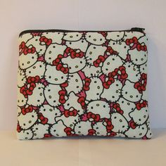"""Pipe Pouch, Glass Pipe Cozy, XL Pipe Bag, Pipe Case, Padded Pouch, Hello Kitty Pouch, 420 Stoner Gift, Glass Piece Holder, 7.5"""" x 6"""" X LARGE by PouchAPalooza.com"""