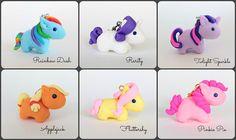 My Little Pony Chibi Charms Rainbow Dash Rarity