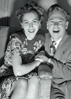 Ava Gardner and Mickey Rooney  (Can you believe that she married him?!)
