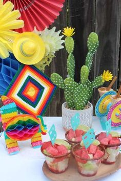 Feast your eyes on this colorful Cinco de Mayo party! The party food is so cool! See more party ideas and share yours at CatchMyParty.com Fiesta Cake, Fiesta Party, Summer Birthday, Birthday Parties, Party Themes, Party Ideas, Summer Cakes, Summer Parties, Craft Party
