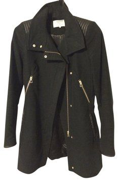 f7bf04d9fe Zara Black Moto Coat Size 4 (S). Tradesy