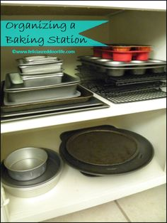 How to Organize a Baking Station. Great tips at the end of the post on how to organize your own baking station, don't even need a lot of room to do it!