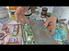 2015 Topic 6: Altered Grunge Paste {on the PaperArtsy Blog} - YouTube