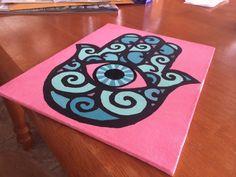 #hamsa #craft #canvas #DIY