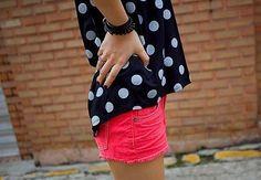 Polka dots and bright shorts