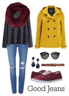 """""""Untitled #21"""" by johansolo13 on Polyvore featuring Frame Denim, Maison Scotch, Vans, Yves Saint Laurent, INC International Concepts, BCBGMAXAZRIA, Dorothy Perkins, women's clothing, women and female"""