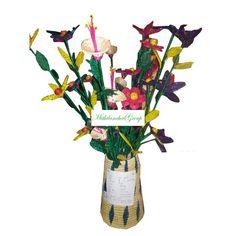 Radha Beautiful Flower Vase Made of Sikki - MithilanchalGroup