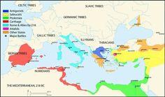 Map: Celtic / Germanic Tribes