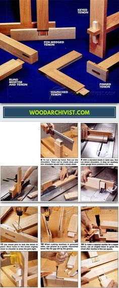 Mortise And Tenon Joints - Joinery Tips, Jigs and Techniques | WoodArchivist.com #WoodworkingTips