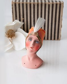 Vintage gypsy flapper boudoir doll head by SadRosetta on Etsy   IT LOOKS LIKE SHE'S HAD JUST ABOUT ENOUGH OF ALL THIS.