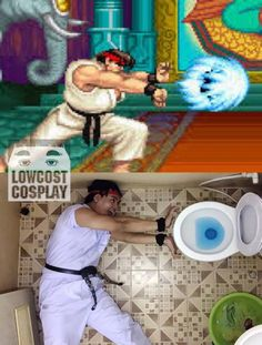 Hadouken Toilet: Cosplay at its Weirdest