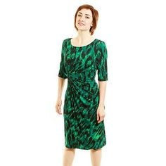 Connected Apparel Cheetah Sheath Dress - Women's