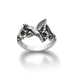 Hummingbird and Flower Ring   James Avery