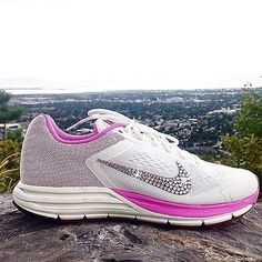 official photos ca217 5fc5b Nike Zoom Structure+ 17 Running Shoes Swarovski Crystal Rhinestones Pink  White