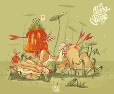 Die Murals und Bleistiftzeichnungen von Georgi Dimitrov Ein undefinierbares, menschenähnliches Wesen kniet im Moor, hat zwei Pfeile im Hintern und einen im Arm und trägt dabei eine Minnie-Maus-Maske auf...