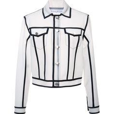 Wanda Nylon 'Jacky' jacket ($915) ❤ liked on Polyvore featuring outerwear, jackets, white, nylon jacket, white nylon jacket and white jacket