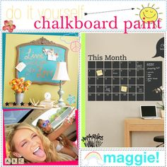 DIY: Chalkboard Paint♥ by the-polyvore-tipgirls, via Polyvore