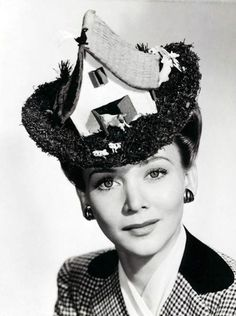 Hat with barn and animals. Via ModCloth: Carole-Landis-in-a-Farmhouse-Hat-1 #millinery #judith #hats