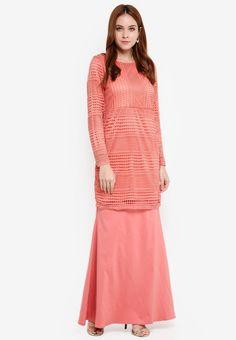 Baju Kurung Crochet Lace - Vercato Atita from VERCATO in pink_4