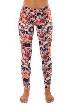 I HAVE to have these! Meowy Christmas Leggings