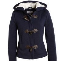 Toggle Hooded Fleece Coat