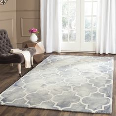 """House of Hampton Hand-Tufted Gray/Ivory Area Rug Rug Size: Runner 2'3"""" x 12'"""