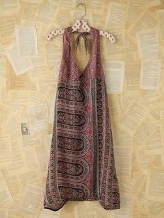 Free People Vintage Printed Halter Dress, $228.00 (wore this in the 70's to outdoor concerts!...cost about $15.00 then..or you made it yourself)
