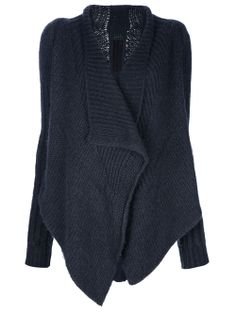 Rick Owens Knitted Open Front Cardigan - - Farfetch.com