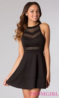 Short Black Sleeveless Dress by Emerald Sundae at PromGirl.com