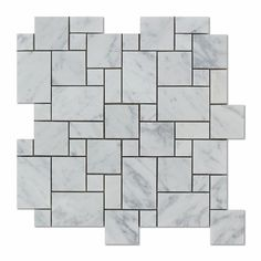 Carrara White Marble Polished Mini Versailles Mosaic Tile