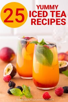 25 Easy Homemade Iced Tea Recipes For Summer Nothing like refreshing homemade iced tea! These iced tea recipes are sure to hit the spot on a hot day. They are easy and a lot of them are healthy. The perfect iced tea is only a brew away. Fruit Tea Recipes, Green Tea Recipes, Iced Tea Recipes, Coffee Recipes, Kombucha, Lemon Iced Tea Recipe, Ice Green Tea Recipe, Homemade Iced Tea, Sweet Tea