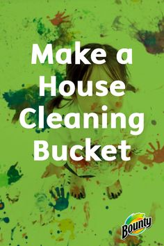 Create a house cleaning bucket for every floor in your home for an easy and convenient place to store your cleaners and Bounty Paper Towels. Save time by no longer needing to run up and down the stairs to grab things you forgot.