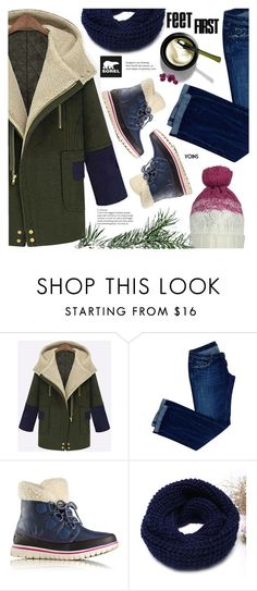 """Tame Winter with SOREL: Contest Entry"" by meyli-meyli ❤ liked on Polyvore featuring Dsquared2, SOREL and sorelstyle"