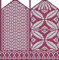 Ravelry: Bernoulli mittens pattern by Maria Lärkäng Knitted Mittens Pattern, Knit Mittens, Knitted Gloves, Knitting Socks, Crochet Quilt, Tapestry Crochet, Crochet Chart, Knitting Charts, Knitting Patterns