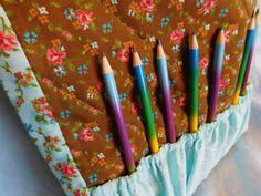 NEW LISTING! $20.00  Crayon bag craft tote bag craft bag adult by Jonquiljunction