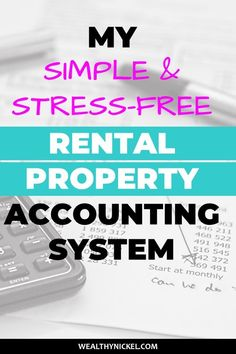 Rental Property Accounting 101 - A Simple System for DIY Landlords You can find Accounting and more on our website.Rental Property Accounting 101 - A Simple Syst. Income Property, Investment Property, Rental Property, Rental Homes, Real Estate Rentals, Real Estate Tips, Real Estate Business, Real Estate Investor, Investment Tips