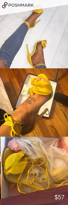 Simmi SAVANA RUFFLE SHOES YELLOW Yellow suede ruffle shoes brand new never worn ordered wrong size shoes US7 EU38 Uk5 NORMALLY WEAR A 37 and US 6.5 love the shoes simmi Shoes Sandals
