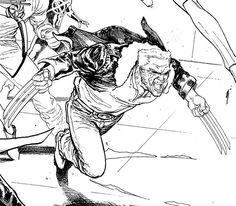 Logan by David Marquez #oldmanlogan #wolverine #xmen #marvel #comics #civilwarii #deskshot #wip #rapidograph #fountainpen #inks #art