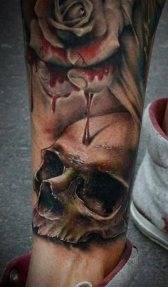 Colour Skull Tattoo