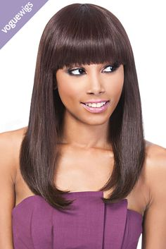 This classy wig can be worn right out of the box, no styling needed. Keep heads turning by changing up the style – wear it straight, add some body with waves, or even curls.