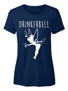Drinkerbell Navy T-Shirt Front