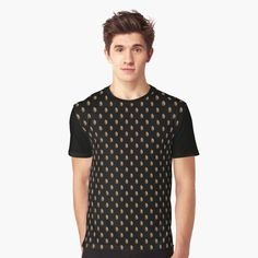 Graphic T Shirts, Vintage T-shirts, Heart Patterns, Cute Pattern, People, My T Shirt, Chiffon Tops, Black And Brown, Casual Shirts