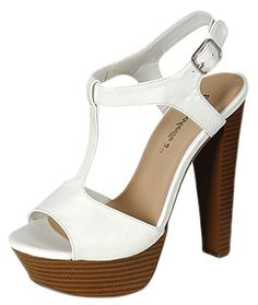 Breckelles Women's Betsey-41 Buckle Ankle Strap Stacked Wooden Platform Heel Sandals - http://all-shoes-online.com/breckelles/7-b-m-us-breckelles-womens-betsey-41-buckle-ankle-10