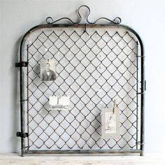 vintage salvaged iron gate by lovintagefinds on etsy Etsy Vintage, Vintage Decor, Vintage Shops, Vintage Style, Old Gates, Iron Gates, My Home Design, House Design, Chain Link Fence Gate