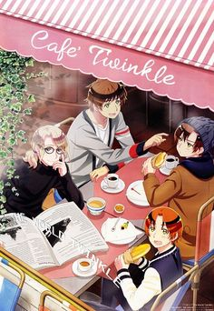 Just imagine...you're in the street , and you pass front of this café, you turn your head and you see Francis, Antonio, Lovino and Feliciano... I think I will pass out ...or maybe scream like a crazy fangirl X)