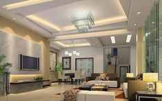 I need a big space for my future living room. House Design, Home Ceiling, Apartment Design, Ceiling Decor, Modern Living Room, False Ceiling Design, Modern Ceiling, Ceiling Design Modern, Living Room Design Modern