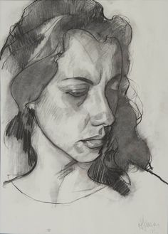 Andrew James: Derly 2002 Charcoal on Paper 18 x 12 / 46 x 31