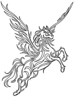 Fresh, creative designs and tutorials for machine and hand embroidery. Horse Drawings, Art Drawings, Sagittarius Tattoo Designs, Unicorn Art, Buddha Art, Gold Work, Coloring Pages, Colouring, Book Making