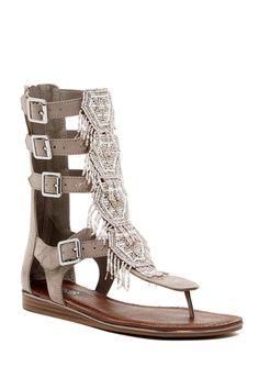 Taos Beaded Gladiator Sandal by Carlos By Carlos Santana on @HauteLook