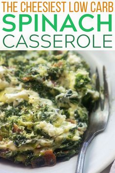 Side dish recipes 649010996288384205 - Spinach Spinach Casserole loaded with cheese and bacon makes a decadent low carb side dish that is easy enough for any night of the week, but special enough for holiday dinners. Source by thatlowcarblife Low Carb Side Dishes, Side Dish Recipes, Lunch Recipes, Low Carb Recipes, Healthy Recipes, Dinner Recipes, Cocktail Recipes, Holiday Recipes, Vegetable Side Dishes